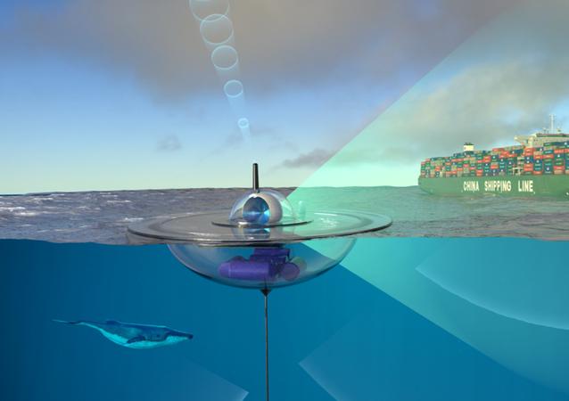 Representação artística do projeto de boias inteligentes da DARPA e OTAN