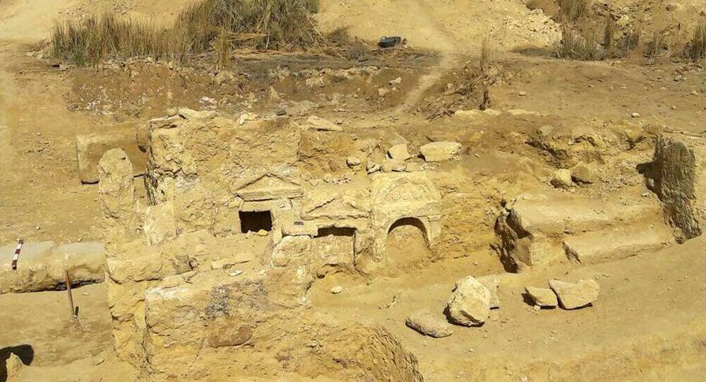 Um sítio arqueológico no Egito (imagem referencial)
