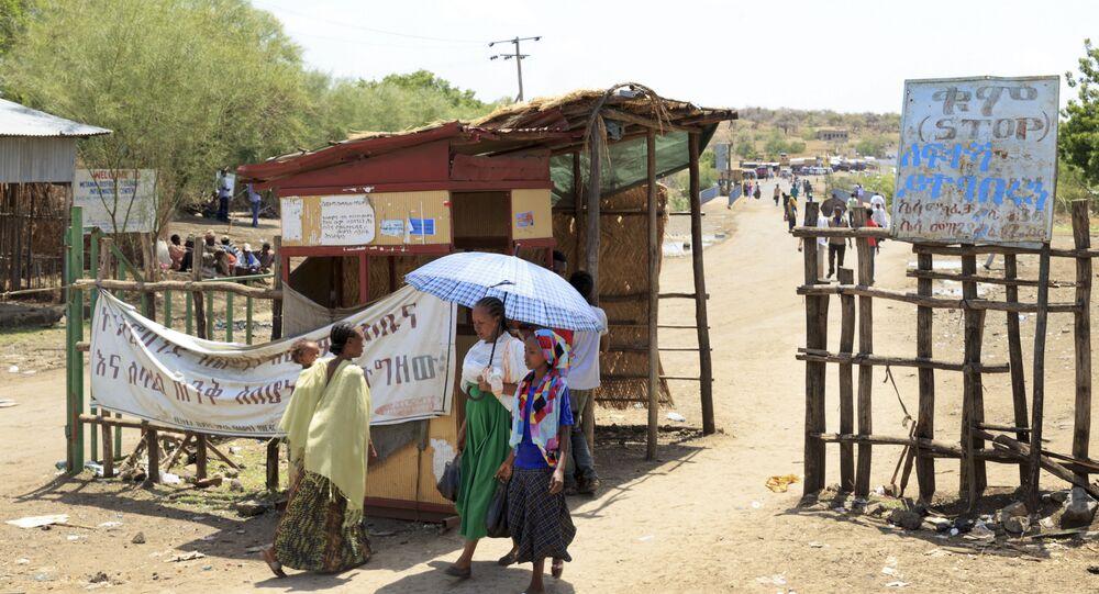 Posto de checagem em Metema, no noroeste da Etiópia, perto da fronteira com o Sudão (arquivo)