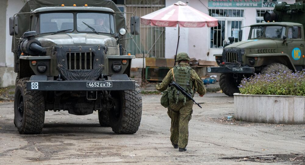 Militares russos em Nagorno-Karabakh (foto de arquivo)