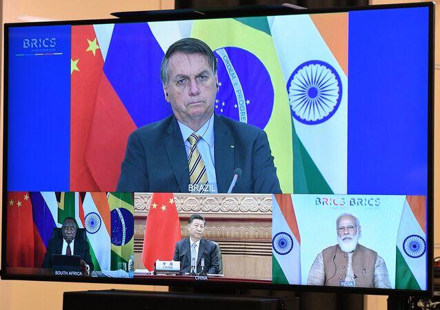 Presidente Jair Bolsonaro durante a 12ª Cúpula do BRICS