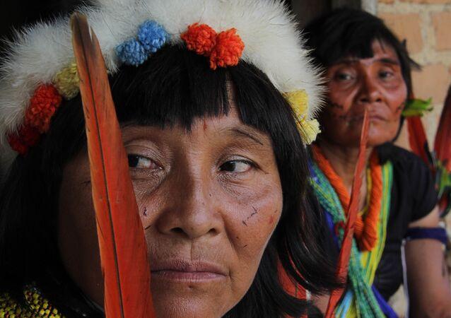 Assembleia Geral Ianomâmi, que celebra 20 anos de homologação da terra indígena Ianomâmi, na aldeia Novo Demini, em Barcelos, AM, no dia 18 de novembro de 2012.