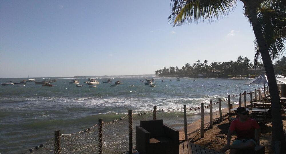 Praia do Forte, sede do Projeto Tamar em Mata de São João, Bahia.