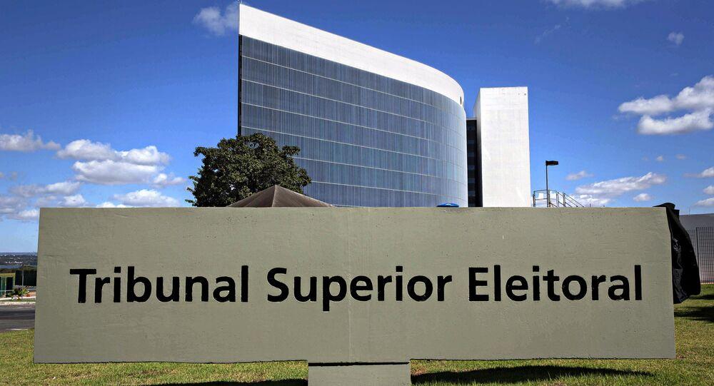 Prédio do Tribunal Superior Eleitoral (TSE) em Brasília.