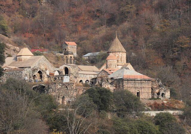 Patrimônio cultural: o Monastério de Dadivank, da Igreja Apostólica Armênia, está localizado em um território que em breve será entregue ao Azerbaijã, na região de Nagorno-Karabakh, no distrito de Kalbajar. Foto de 15 de novembro de 2020.
