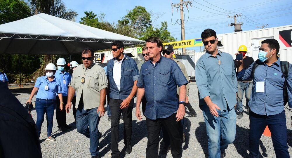 Jair Bolsonaro visita a Subestação de Santana no estado do Amapá