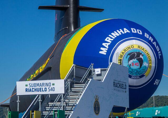 Batismo e lançamento ao mar do submarino Riachuelo, considerado o mais moderno do Brasil, em Itaguaí, no Rio de Janeiro