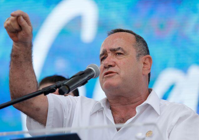 O presidente da Guatemala Alejandro Giammattei