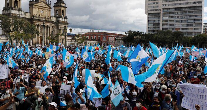 Protestos antigovernamentais na Guatemala
