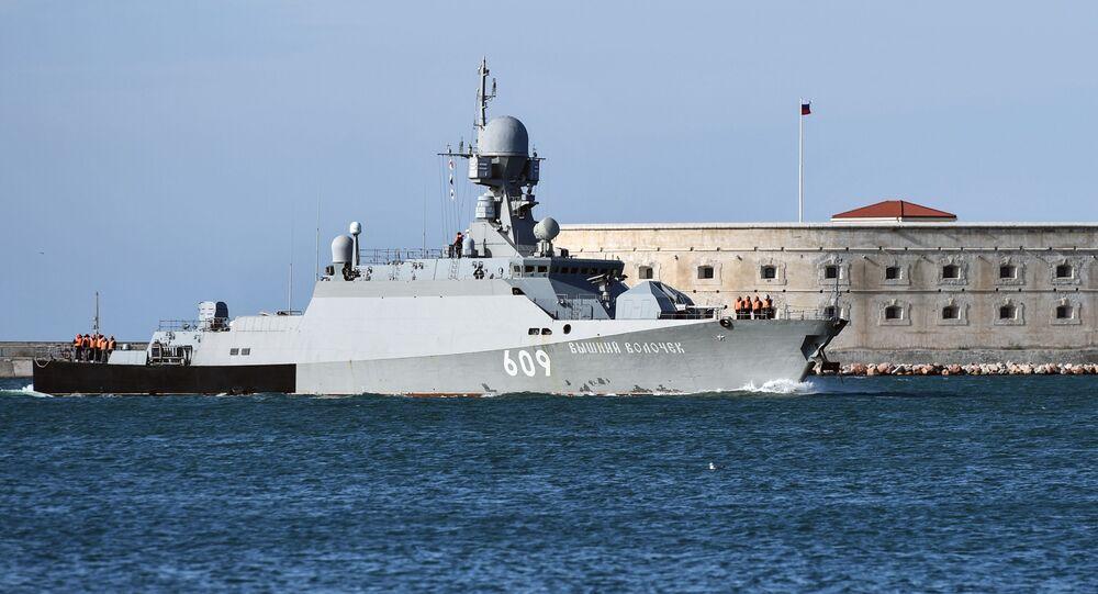 Navio da Marinha russa Vyshny Volochyok (imagem referencial)