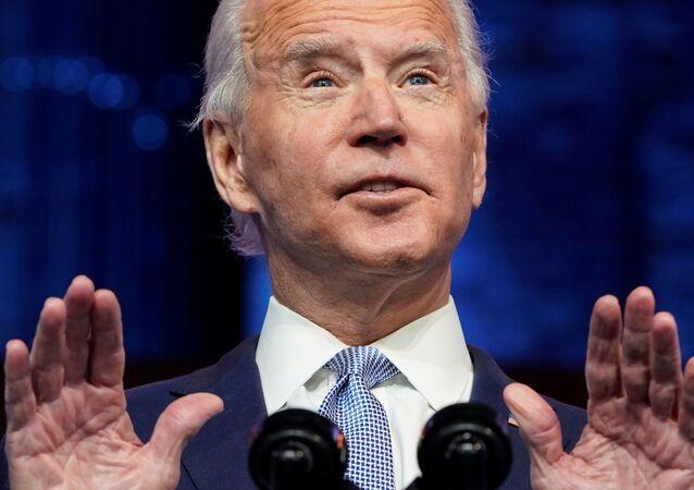 Joe Biden anuncia sua equipe de segurança nacional e política externa em Wilmington, Delaware, no dia 24 de novembro de 2020