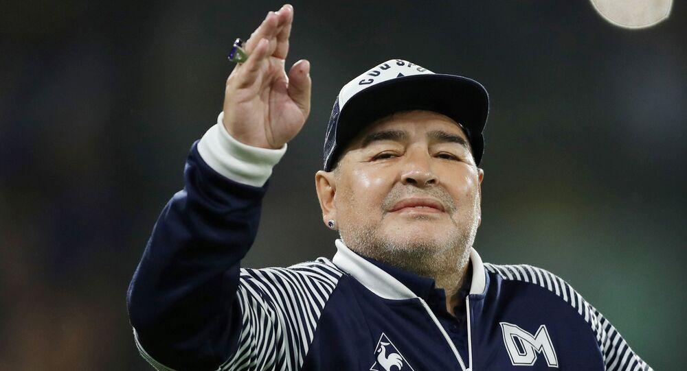 Ex-jogador argentino Diego Armando Maradona