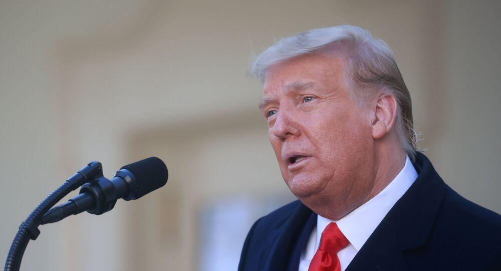 Presidente dos EUA, Donald Trump, no Dia de Ação de Graças