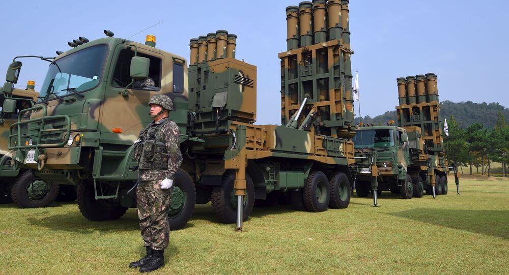 Sistema de mísseis de alcance intermediário Cheongung da Coreia do Sul