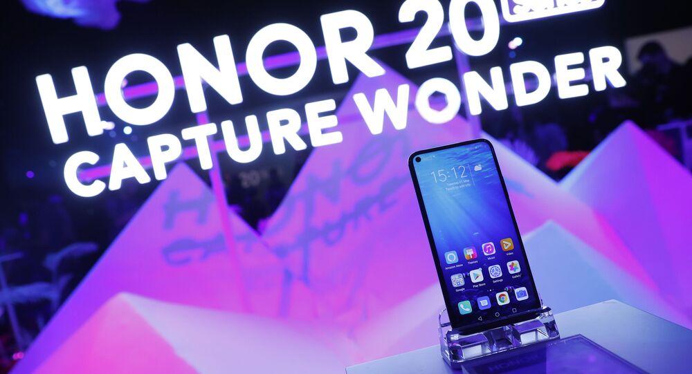 Apresentação do telefone celular Honor 20 em Londres