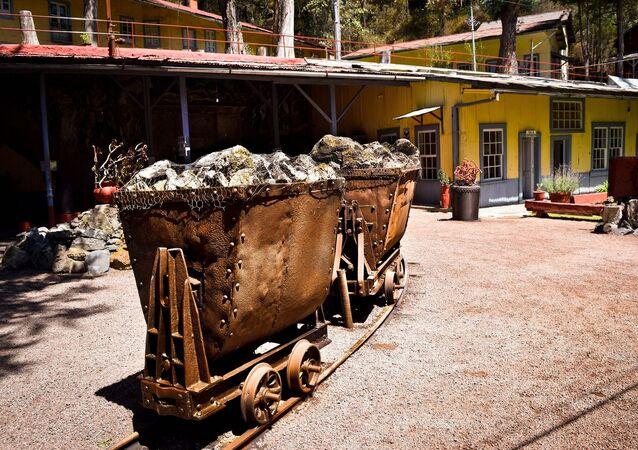 Representação do trabalho mineiro algures no México