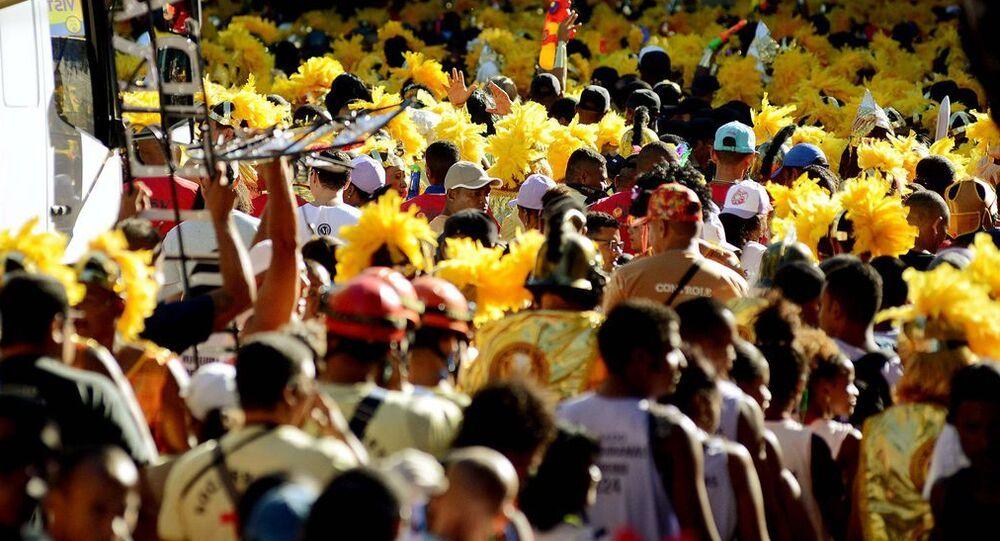 Bloco de Carnaval em Salvador.