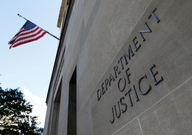 Sede do Departamento de Justiça dos Estados Unidos em Washington D.C., EUA, 29 de agosto de 2020