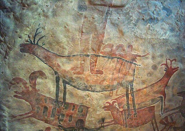 Pintura rupestre (imagem referencial)