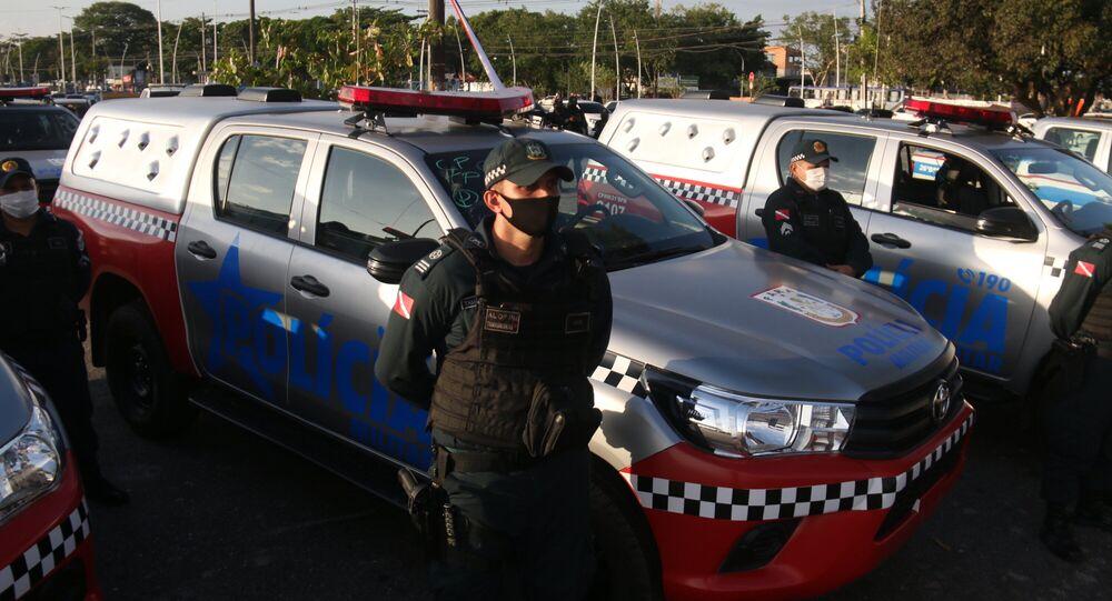 Em Belém, no Pará, o governo estadual entrega novas viaturas para serem utilizadas pela Polícia Militar, em 2 de setembro de 2020