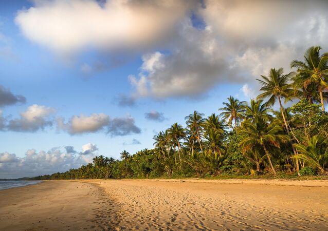 Praia em Queensland, Austrália