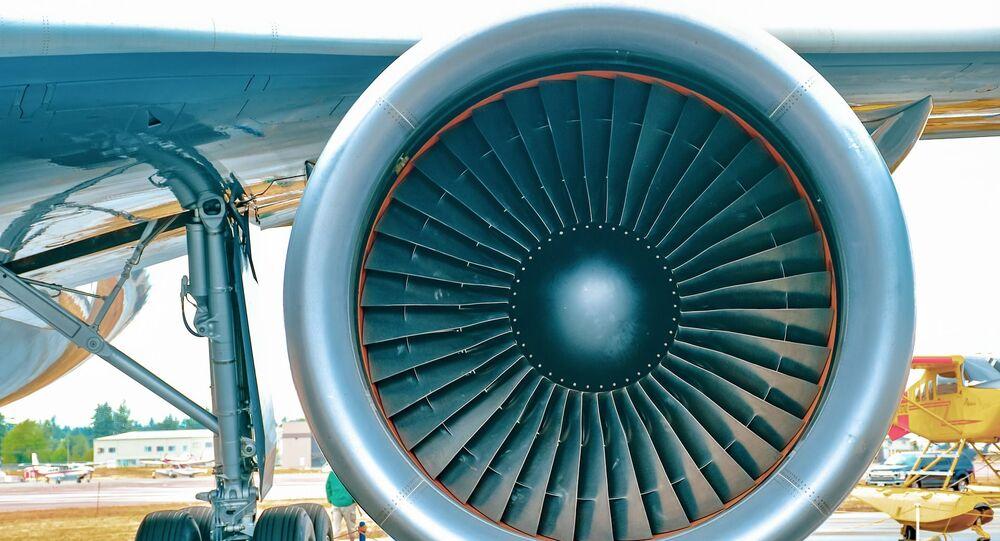 Motor de avião (imagem referencial)