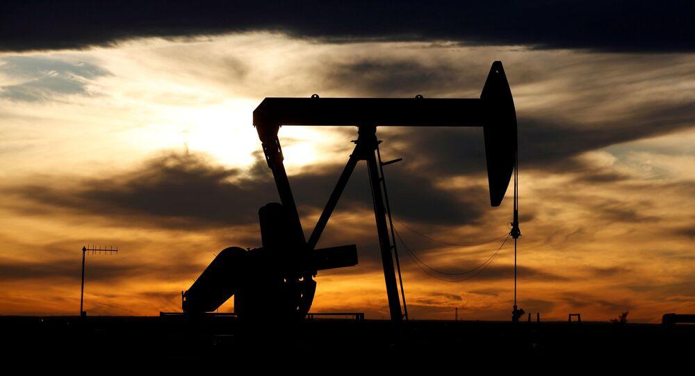 Poço de petróleo no Texas, EUA