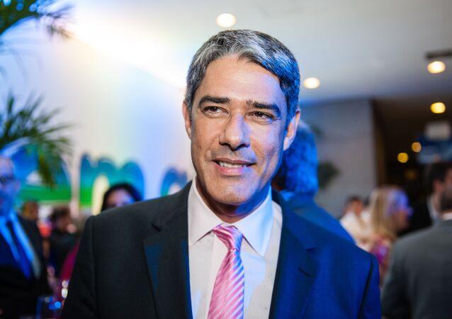 Em São Paulo, o jornalista e apresentador do Jornal Nacional, da TV Globo, William Bonner, em 17 de novembro de 2020