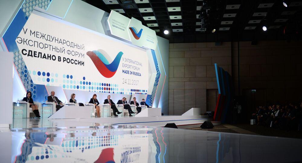 Participantes do 5º fórum internacional Made in Rússia