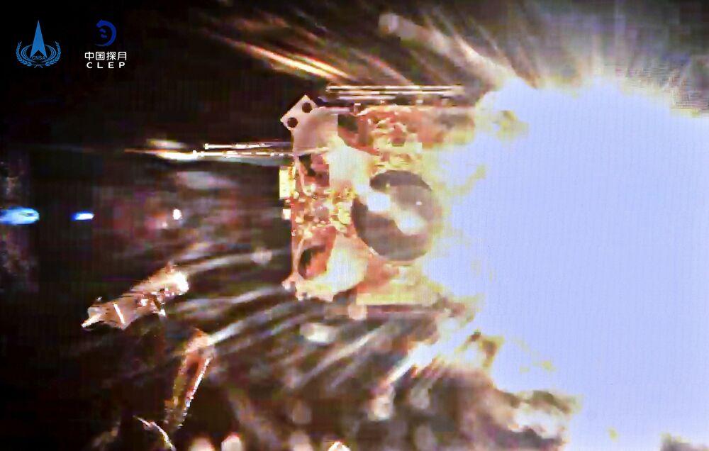 Espaçonave Chang'e-5 decola da superfície lunar