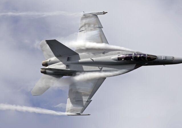 Caça F/A-18 Super Hornet da Força Aérea Australiana
