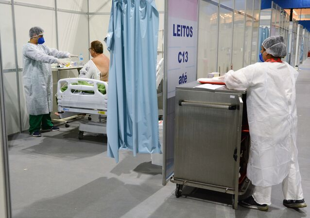 Hospital de campanha para coronavírus na cidade do Rio de Janeiro