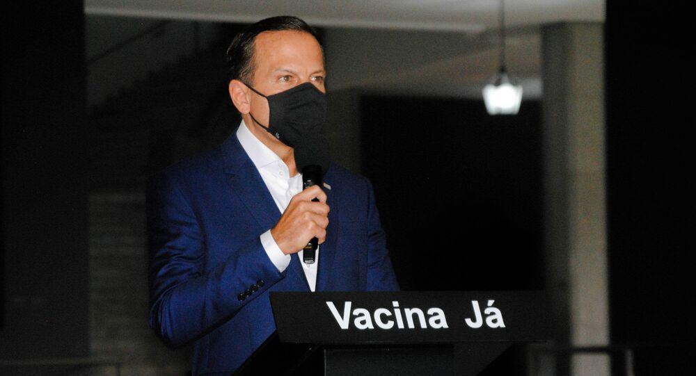 Governador de São Paulo, João Doria, anuncia plano de vacinação contra a COVID-19