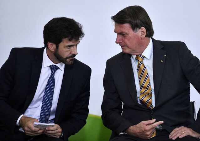 Ex-ministro do Turismo, Marcelo Álvaro Antônio e o presidente Jair Bolsonaro