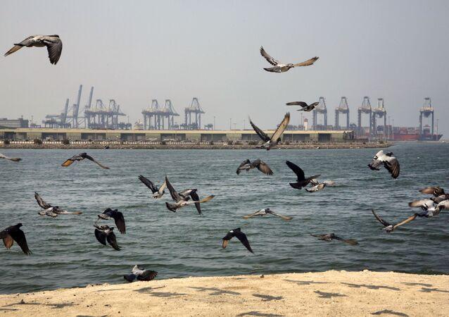 Ancoradouro do porto de Jidá, na Arábia Saudita