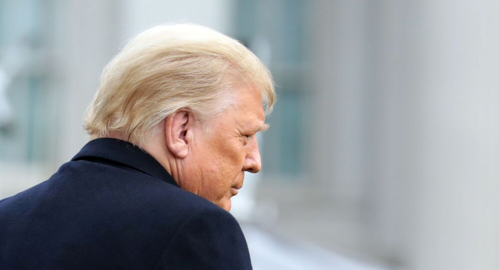 Presidente dos EUA, Donald Trump, na Casa Branca, Washington, EUA, 12 de dezembro de 2020