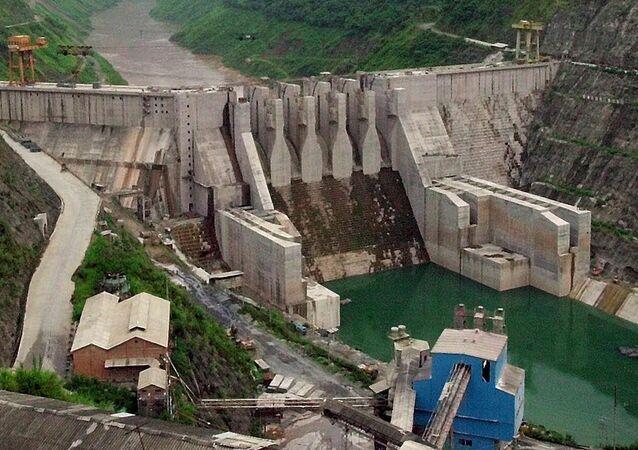Represa chinesa no rio Mekong