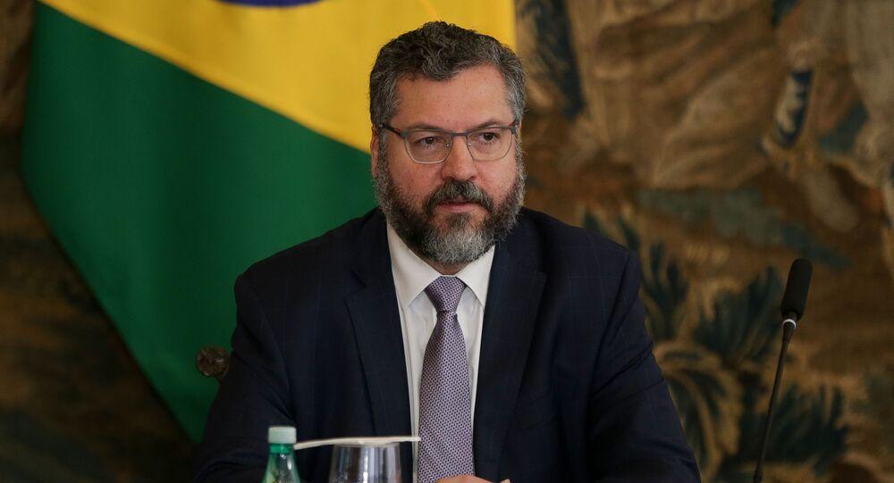 Ministro das Relações Exteriores, Ernesto Araújo.
