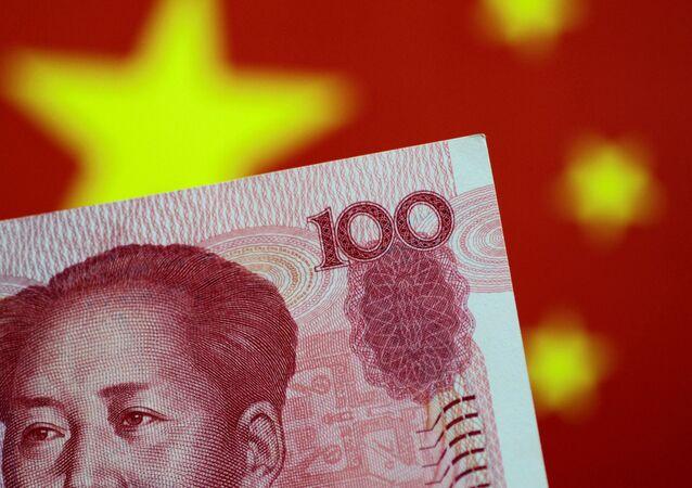 Cédula de yuan da China em foto de 31 de maio de 2017