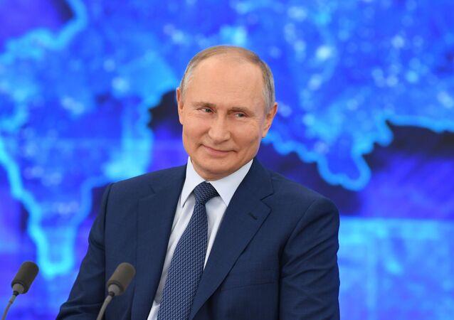 Grande coletiva do presidente da Rússia, Vladimir Putin, 17 de dezembro de 2020