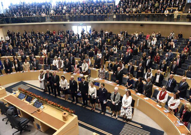 Abertura do Parlamento sueco em Estocolmo, Suécia, 25 de setembro de 2018