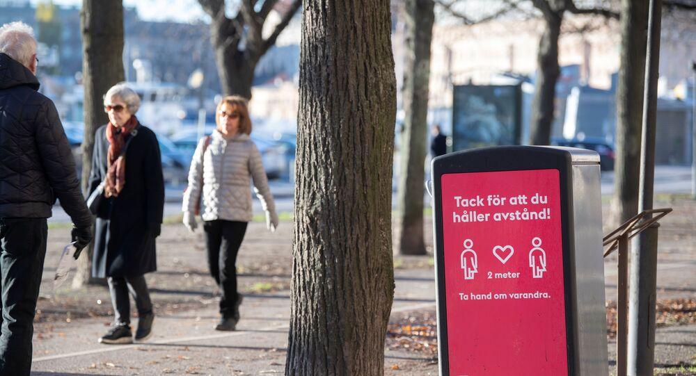 Pessoas sem máscaras em Estocolmo, a capital sueca, em novembro de 2020