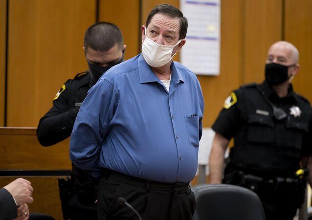 Roy Charles Waller no tribunal de Sacramento, Califórnia, ao ser condenado no dia 18 de novembro de 2020