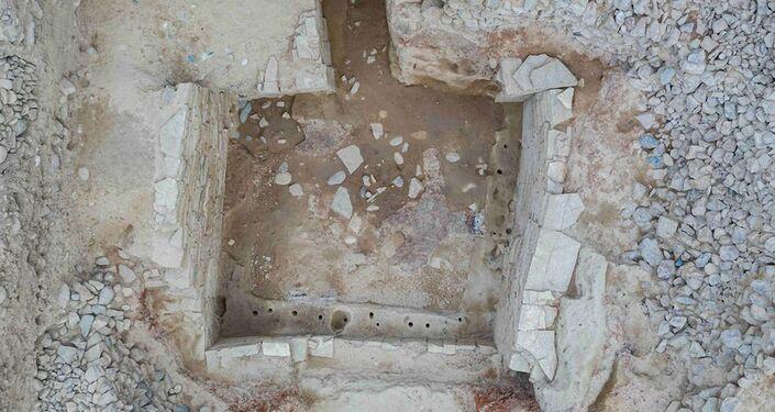 Sítio arqueológico onde a tumba de 3.500 anos foi encontrada na China