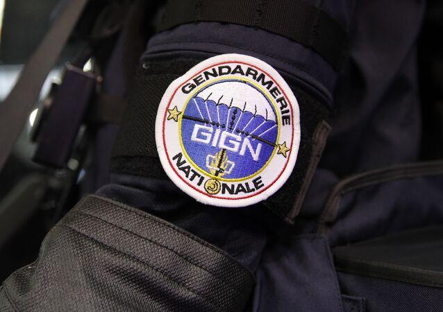 Crachá do Grupo de Intervenção da Gendarmaria Nacional, uma força policial francesa de elite