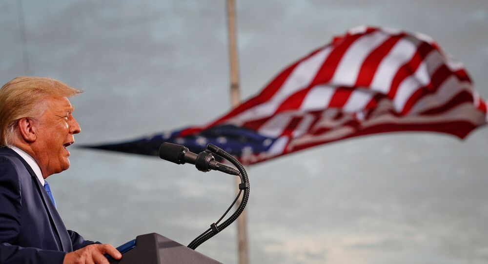 Presidente norte-americano, Donald Trump, discursa na Flórida
