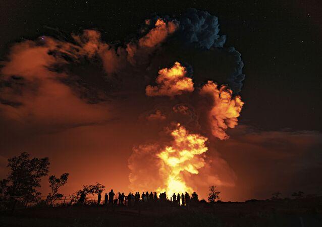 Erupção do vulcão Kilauea no Havaí, 21 de dezembro de 2020