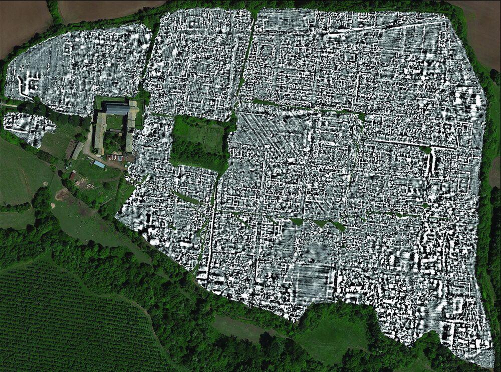 Primeiro mapa completo da antiga cidade romana de Falerii Novi
