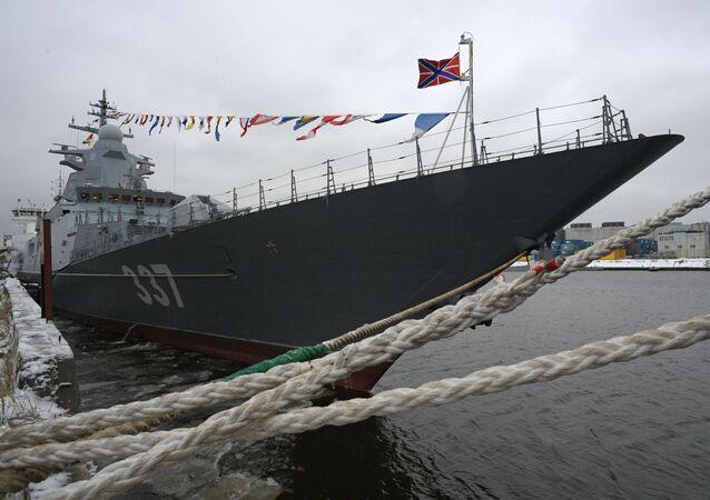 Marinha da Rússia recebe a nova corveta Gremyaschy