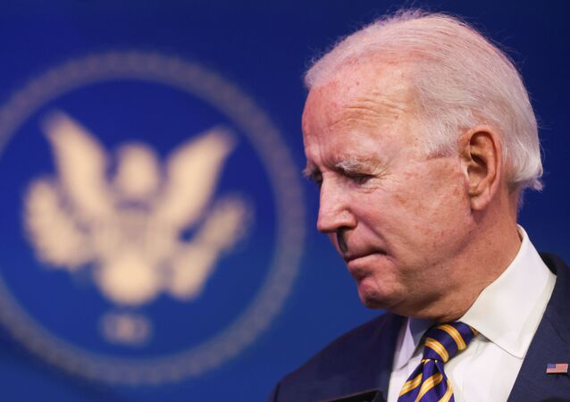 Presidente eleito dos EUA, Joe Biden, durante coletiva de imprensa, em Wilmington, Delaware, EUA, 29 de dezembro de 2020